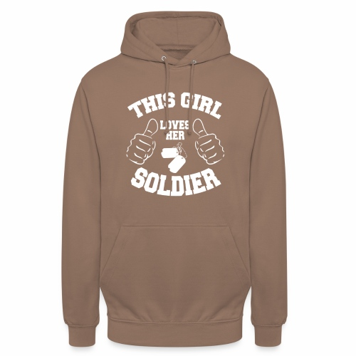 This Girl Loves Her Soldier - Unisex Hoodie