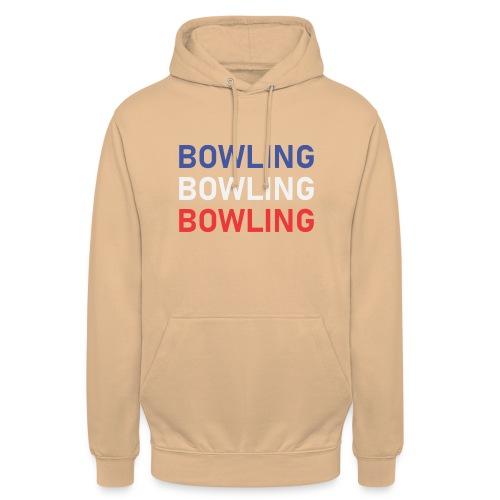 Bowling Bleu Blanc Rouge - Sweat-shirt à capuche unisexe