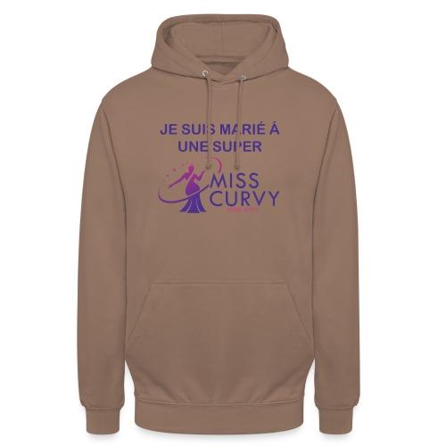 MISS CURVY Je suis marié - Sweat-shirt à capuche unisexe