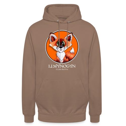 """llwynogyn - a little red fox (white) - Huppari """"unisex"""""""