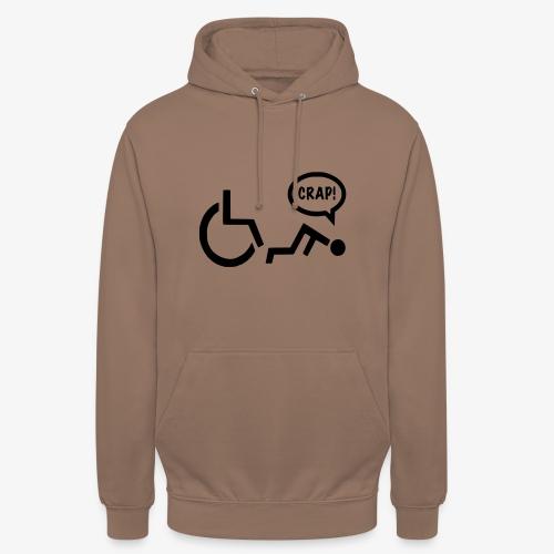 Gevallen rolstoel gebruiker pech 003 - Hoodie unisex