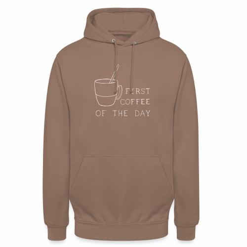 First coffee - Sweat-shirt à capuche unisexe