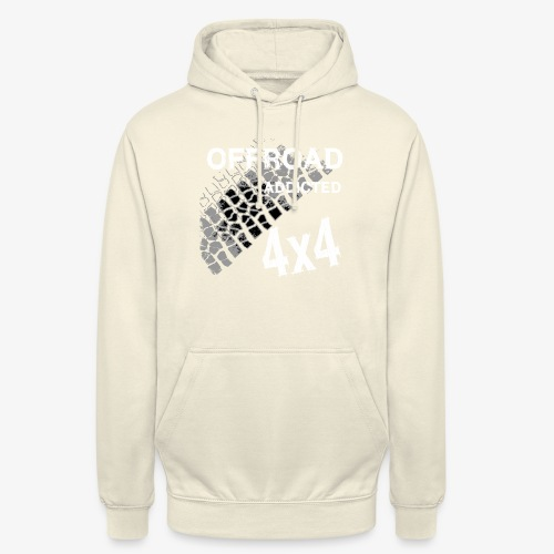 Defender Land-Rover OFF Road White - Unisex Hoodie