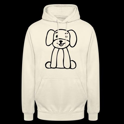 hund sitzt - Unisex Hoodie