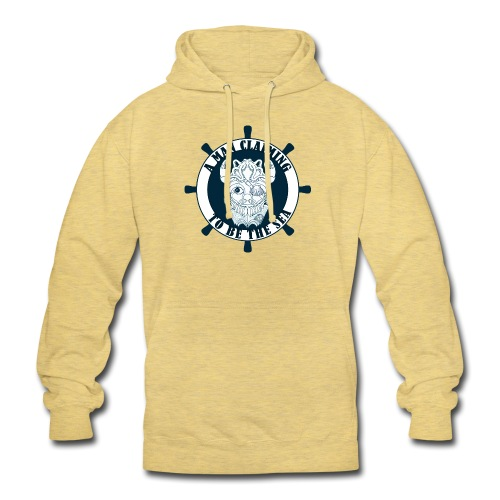A man claiming to be the sea - Sudadera con capucha unisex