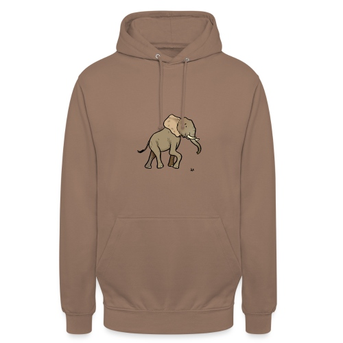 Elefante africano - Felpa con cappuccio unisex