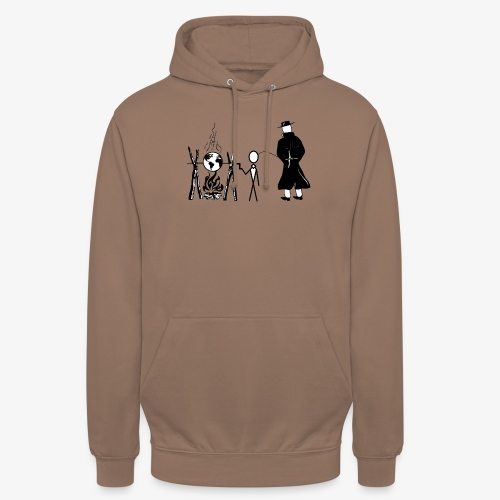 Pissing Man against human self-destruction - Unisex Hoodie