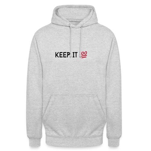 KEEP IT 100 ZWART png - Hoodie unisex