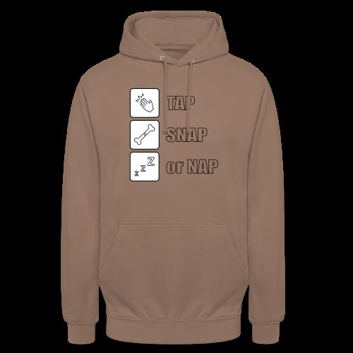 tap snap or nap - Bluza z kapturem typu unisex