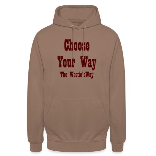 Choose Your Way Brown - Bluza z kapturem typu unisex