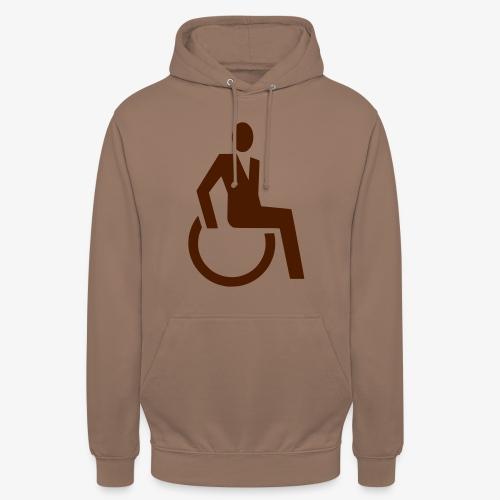 Sjieke rolstoel gebruiker symbool - Hoodie unisex