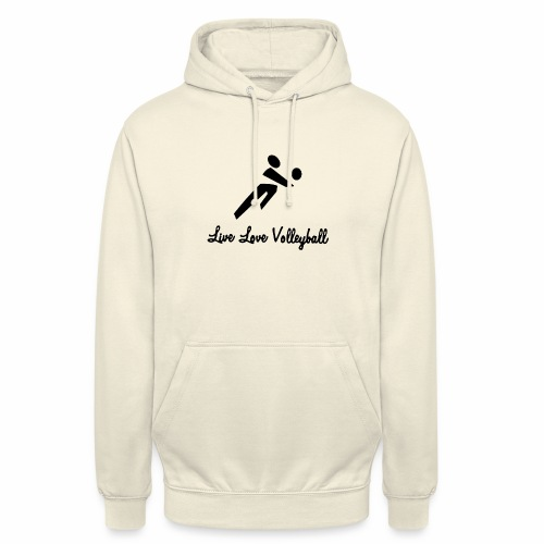 Black Live Love Volleyball - Unisex Hoodie