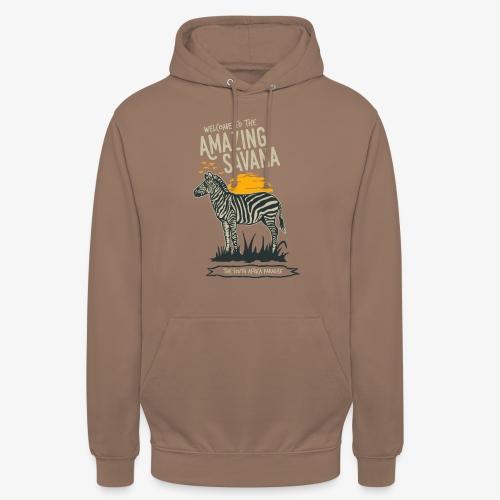Zèbre - Sweat-shirt à capuche unisexe