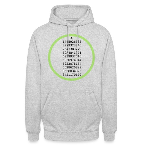 "Number Pi Green Circle - Huppari ""unisex"""