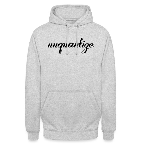 unquantize black logo - Unisex Hoodie