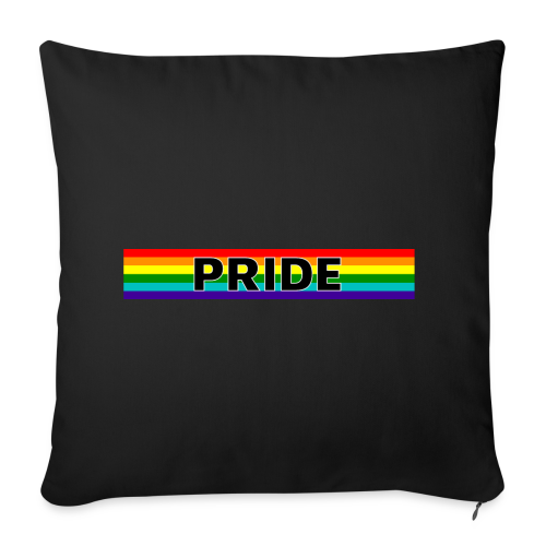 Gay pride rainbow vlag met de tekst Pride - Sierkussenhoes, 44 x 44 cm