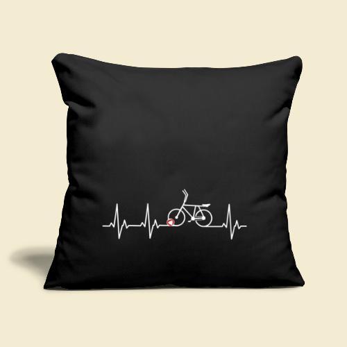 Radball | Heart Monitor White - Sofakissenbezug 44 x 44 cm