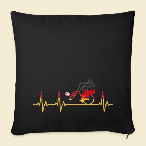 Radball | Cycleball Heart Monitor Germany - Sofakissenbezug 44 x 44 cm