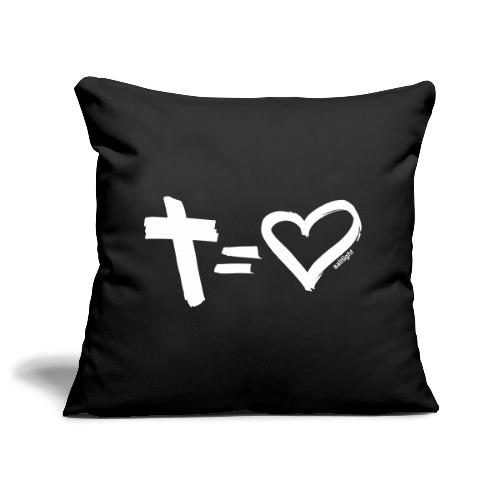 Cross = Heart WHITE // Cross = Love WHITE - Sofa pillow cover 44 x 44 cm