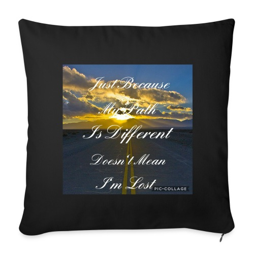 Just because my path - Sofa pillow cover 44 x 44 cm