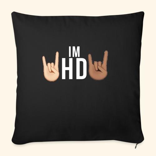 IM HD WHITE - Sofa pillow cover 44 x 44 cm