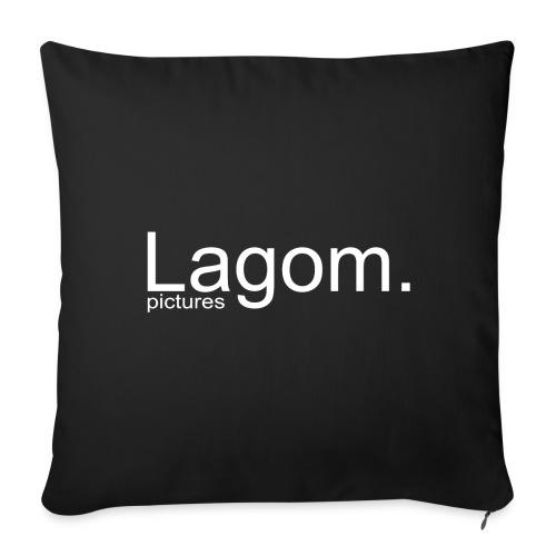 Lagom Pictures Logo Light - Sofa pillow cover 44 x 44 cm