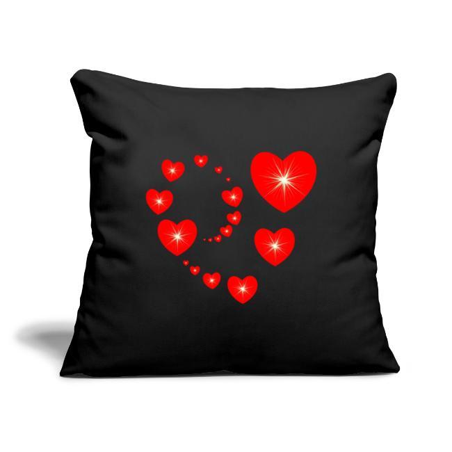 t shirt coeur rouge Saint Valentin