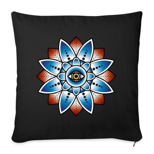 Psychedelisches Mandala mit Auge - Sofakissenbezug 44 x 44 cm