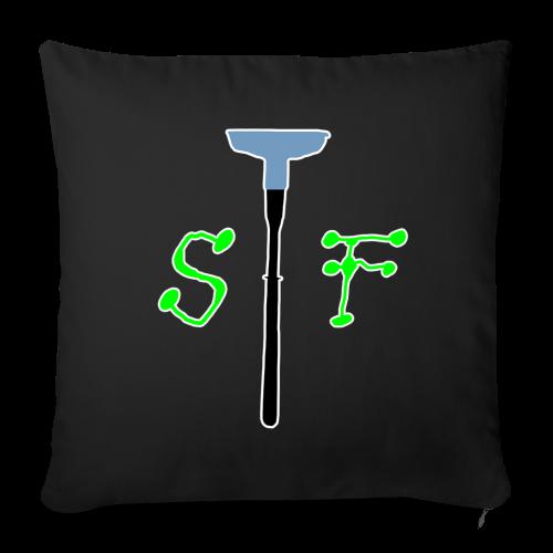SpinnerFox logo - Soffkuddsöverdrag, 44 x 44 cm