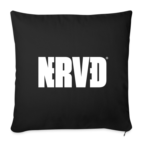 Official Nerved@ White Logotype - Sofa pillow cover 44 x 44 cm