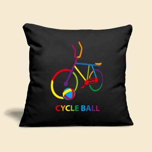 Radball | Cycle Ball Rainbow - Sofakissenbezug 44 x 44 cm