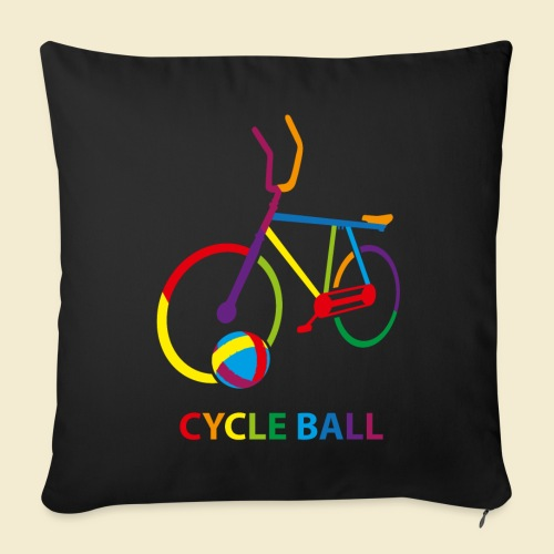 Radball | Cycle Ball Rainbow - Sofakissenbezug 44 x 44 cm