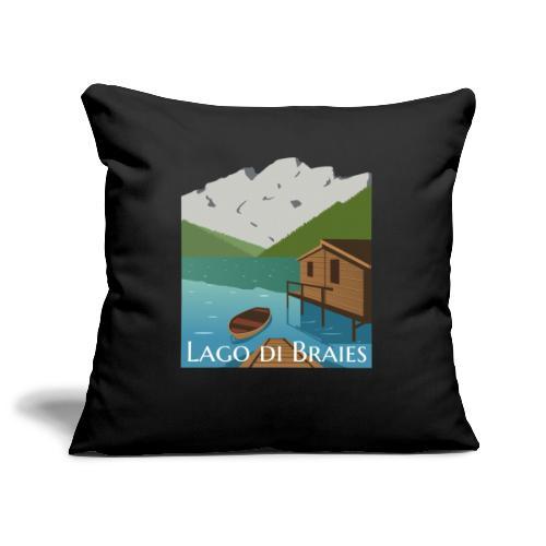 Illustrazione Lago di Braies - Copricuscino per divano, 44 x 44 cm