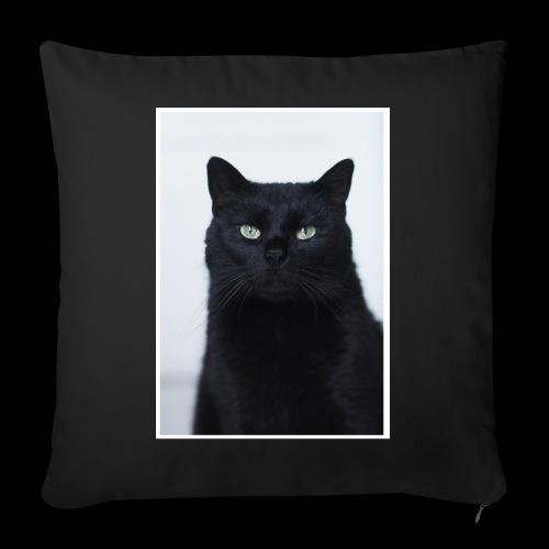 Schwarze Katze - Sofakissenbezug 44 x 44 cm