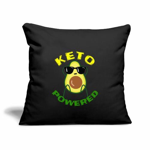 Keto powered - Keto Low Carb T-Shirt - Sofakissenbezug 44 x 44 cm