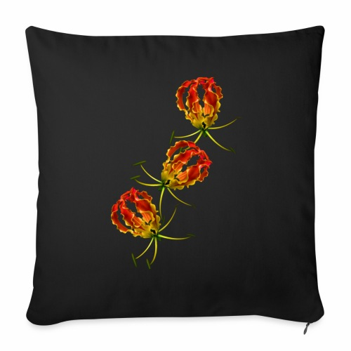 Flame Lily x 3 - Sofa pillow cover 44 x 44 cm