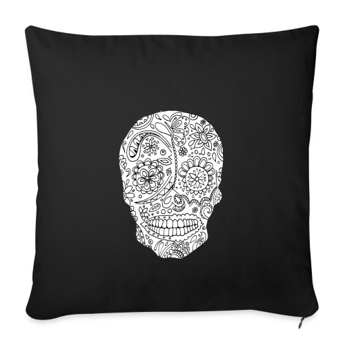 Sugar Skull - Housse de coussin décorative 44x 44cm