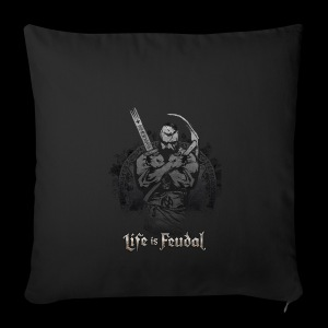 Life is Feudal Steam Badge 1 - Housse de coussin décorative 44 x 44 cm