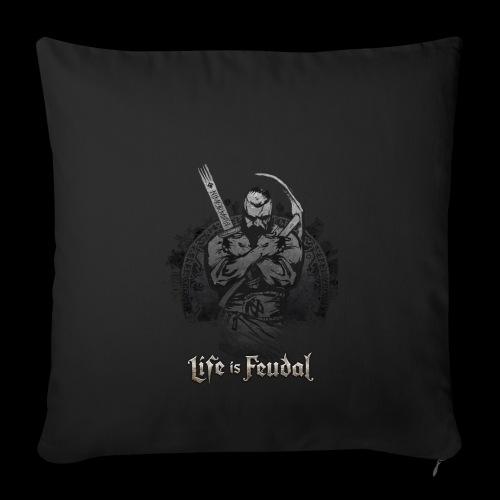 Life is Feudal Steam Badge 1 - Housse de coussin décorative 44x 44cm