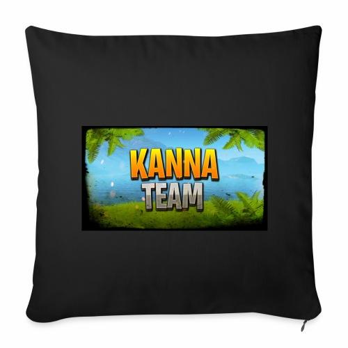 Logo Kanna_Team - Housse de coussin décorative 44x 44cm
