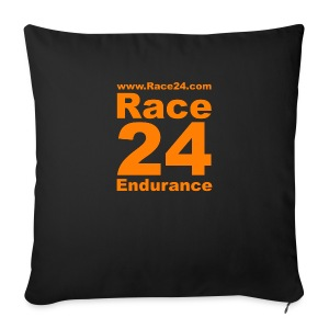 Race24 Logo in Orange - Sofa pillow cover 44 x 44 cm