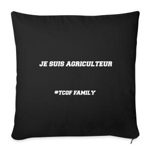 Articles Je suis agriculteur écritures blanches - Housse de coussin décorative 44x 44cm