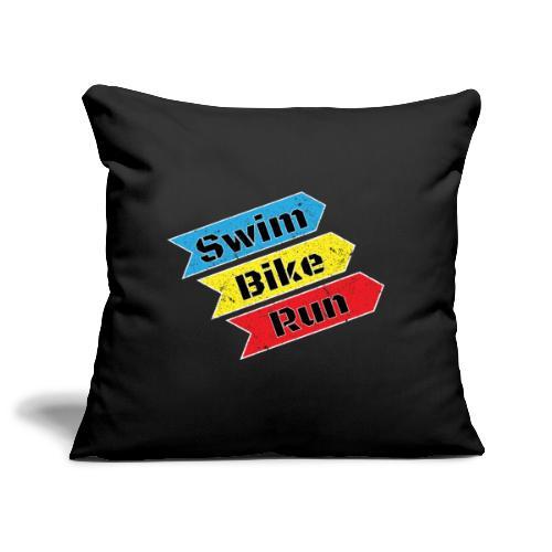 Swim Bike Run! - Sofakissenbezug 44 x 44 cm