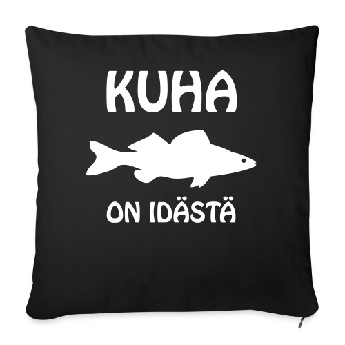 KUHA ON IDÄSTÄ - Sohvatyynyn päällinen 45 x 45 cm