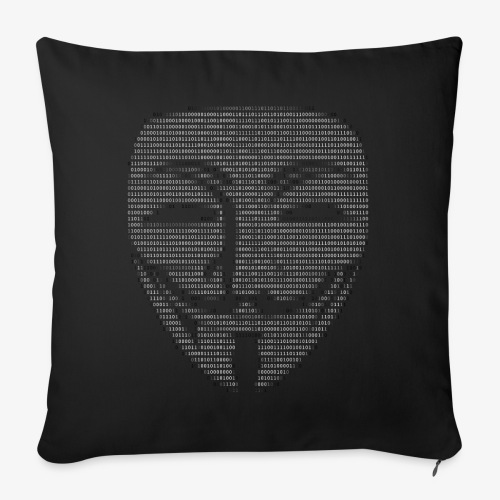 Guy Fawkes Mask Binary - Sofa pillowcase 17,3'' x 17,3'' (45 x 45 cm)