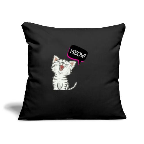Cat meow - Sofa pillowcase 17,3'' x 17,3'' (45 x 45 cm)