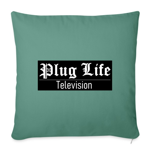 Plug Life Television Logo - Sofa pillowcase 17,3'' x 17,3'' (45 x 45 cm)