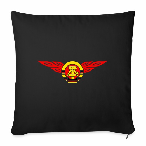 GDR flames crest 3c - Sofa pillowcase 17,3'' x 17,3'' (45 x 45 cm)