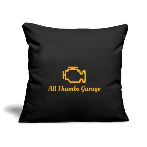 ATG logo + text - Sofa pillowcase 17,3'' x 17,3'' (45 x 45 cm)