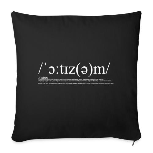 AUTISM WHITE - Sofa pillow cover 44 x 44 cm